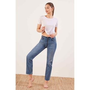Reformation Zip Crop Straight Leg Denim Jean